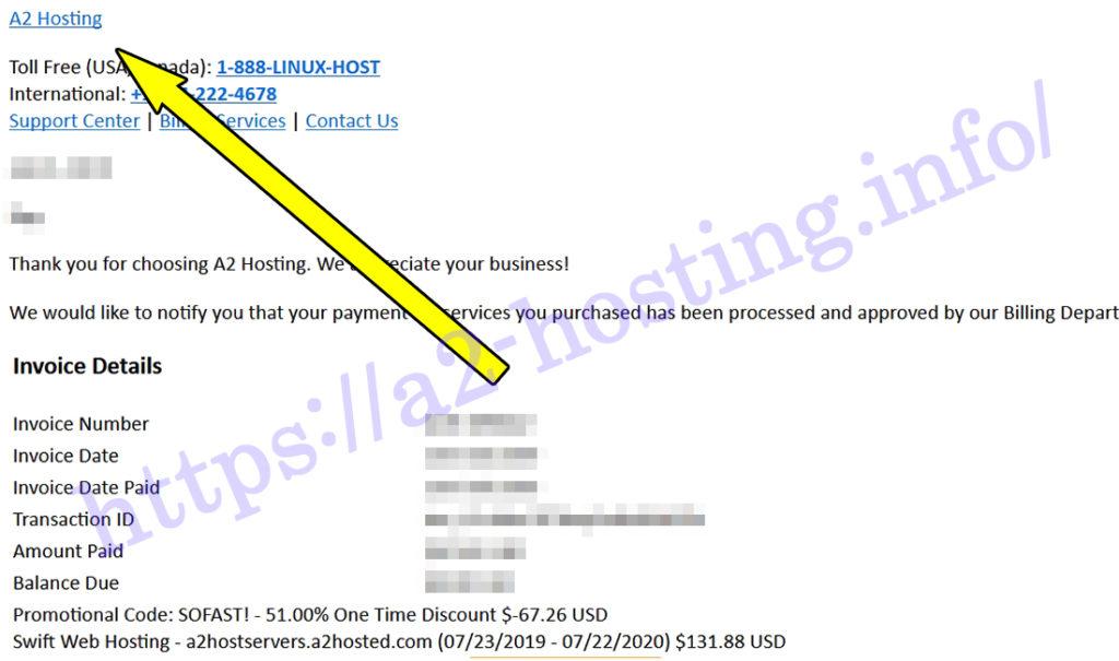 a2hostingメール