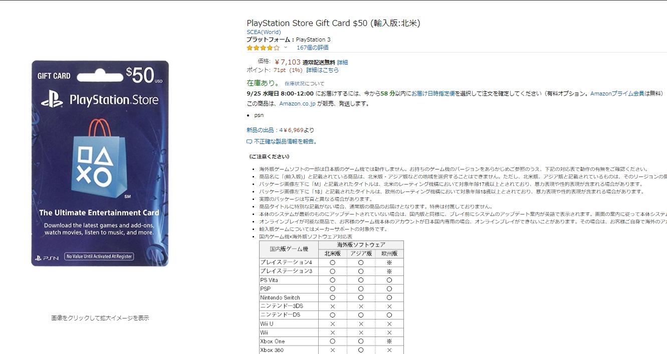 Amazon Psnカード