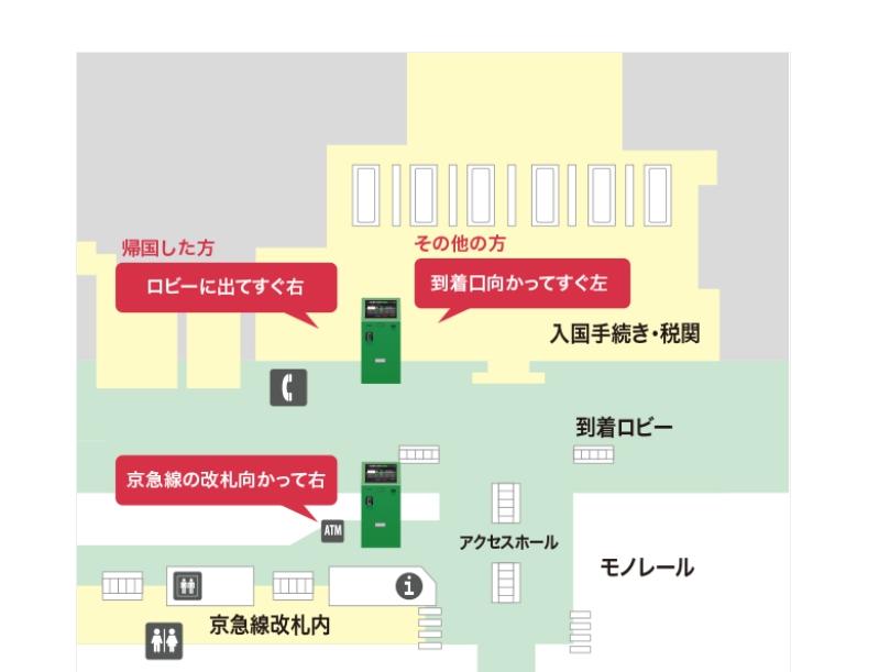 ポケットチェンジ羽田空港設置場所