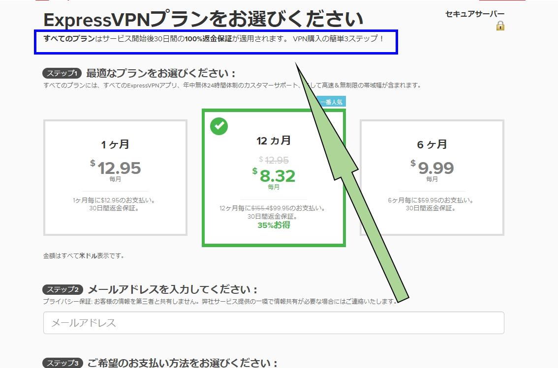 ExpressVPN30日返金保証