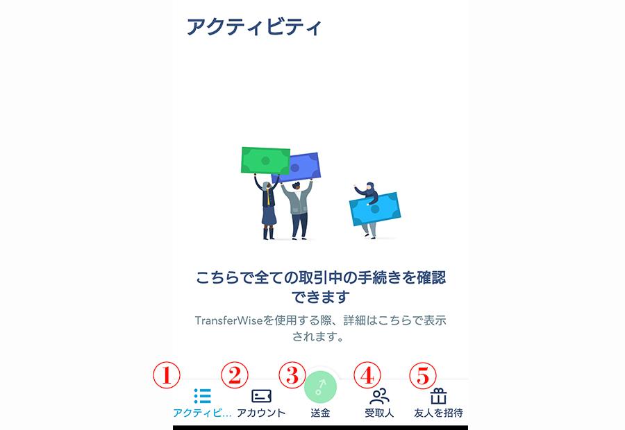 TransferWiseのアプリでできること